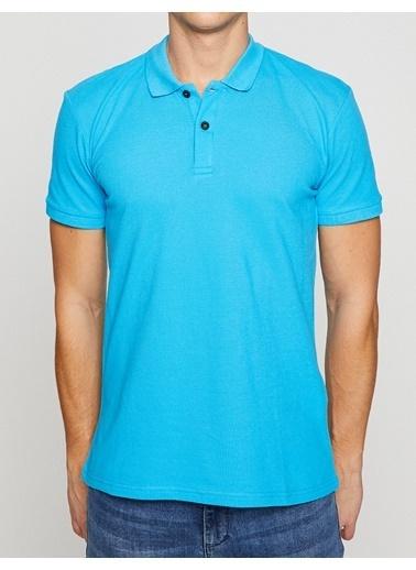 Koton Polo Yaka Tişört Mavi